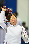 Ayaka Shimookawa (JPN),<br /> AUGUST 11, 2013 - Fencing :<br /> World Fencing Championships Budapest 2013, Women's Team Epee Round of 32 at Syma Hall in Budapest, Hungary. (Photo by Enrico Calderoni/AFLO SPORT) [0391]