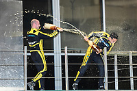#29 ARROWS A3 NICKY PASTORELLI WINNER OVERALL RACE 1 #19 SURTEES TS19 STUART HALL SECOND PLACE RACE 1 #77 MARCH 761 AXCIL JEFFERIES THIRD PLACE RACE 1