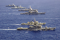 A formation of ships from numerous navies during the 2006 Rim of the Pacific Exercise.