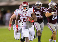 NWA Democrat-Gazette/JASON IVESTER<br /> Arkansas running back Rawleigh Williams (22) races to the end zone for a touchdown against Mississippi State on Saturday, Nov. 19, 2016, at Davis Wade Stadium in Starkville, Miss., during the second quarter.