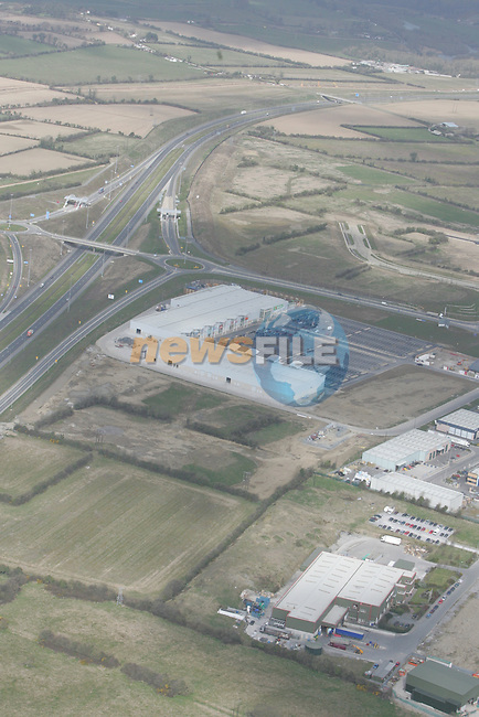 Aerial view of Drogheda Retail Park on the Donore Rd. at the M1 interchange. 12/04/05...Photo NEWSFILE/Fran Caffrey.(Photo credit should read Fran Caffrey/NEWSFILE)....This Picture has been sent you under the condtions enclosed by:.Newsfile Ltd..The Studio,.Millmount Abbey,.Drogheda,.Co Meath..Ireland..Tel: +353(0)41-9871240.Fax: +353(0)41-9871260.GSM: +353(0)86-2500958.email: pictures@newsfile.ie.www.newsfile.ie.FTP: 193.120.102.198...This picture is from Fran Caffrey@newsfile.ie