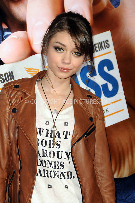 WWW.ACEPIXS.COM . . . . . ....February 23 2011, Los Angeles....Actress Sarah Hyland arriving at the premiere of Warner Brothers' 'Hall Pass' at the Cinerama Dome on February 23, 2011 in Los Angeles, CA....Please byline: PETER WEST - ACEPIXS.COM....Ace Pictures, Inc:  ..(212) 243-8787 or (646) 679 0430..e-mail: picturedesk@acepixs.com..web: http://www.acepixs.com