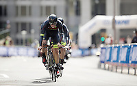 Hincapie Cycling Team (USA) at work<br /> <br /> Elite Men&rsquo;s Team Time Trial<br /> UCI Road World Championships Richmond 2015 / USA