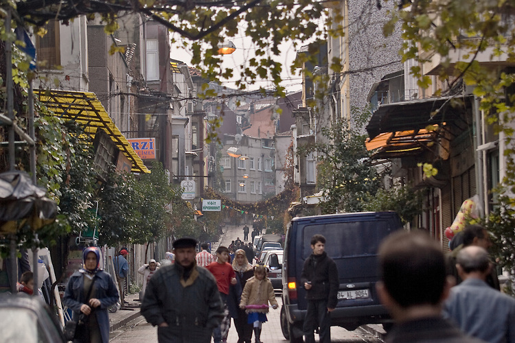 Fener District, residential neighborhood, street scene, Istanbul, Turkey,