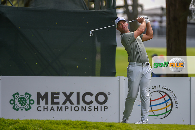 Paul Casey (GBR) watches his tee shot on 7 during round 1 of the World Golf Championships, Mexico, Club De Golf Chapultepec, Mexico City, Mexico. 2/21/2019.<br /> Picture: Golffile | Ken Murray<br /> <br /> <br /> All photo usage must carry mandatory copyright credit (© Golffile | Ken Murray)