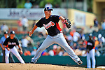 13 March 2012: Atlanta Braves pitcher Erik Cordier on the mound during a Spring Training game against the Miami Marlins at Roger Dean Stadium in Jupiter, Florida. The two teams battled to a 2-2 tie playing 10 innings of Grapefruit League action. Mandatory Credit: Ed Wolfstein Photo