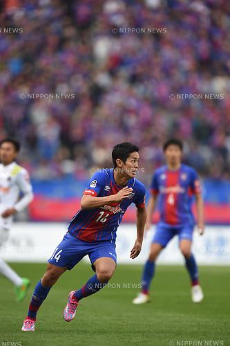 Yoshinori Muto (FC Tokyo), APRIL 18, 2015 - Football /Soccer : 2015 J1 League 1st stage match between F.C. Tokyo 1-2 Sanfrecce Hiroshima at Ajinomoto Stadium in Tokyo, Japan. (Photo by Hitoshi Mochizuki/AFLO)