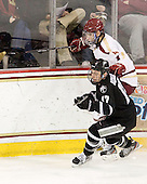 Matt Bergland (PC - 17), Tommy Cross (BC - 4) - The Boston College Eagles defeated the Providence College Friars 7-0 on Saturday, February 25, 2012, at Kelley Rink at Conte Forum in Chestnut Hill, Massachusetts.