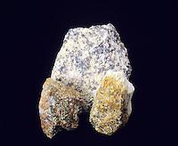 URANIUM ORES: AUTUNITE, TORBERNITE, GUMMITE<br /> Ca(UO2)2(PO4)2 -Cu(UO2)2(PO4)2 -U Oxide + H20<br /> Secondary minerals that forms as a result of surface alteration or uranium ores