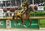 LOUISVILLE, KY - MAY 05: Funny Duck #4, ridden by Brian J. Hernandez, Jr. wins the Pat Day Mile on Kentucky Derby Day at Churchill Downs on May 5, 2018 in Louisville, Kentucky. (Photo by Sue Kawczynski/Eclipse Sportswire/Getty Images)