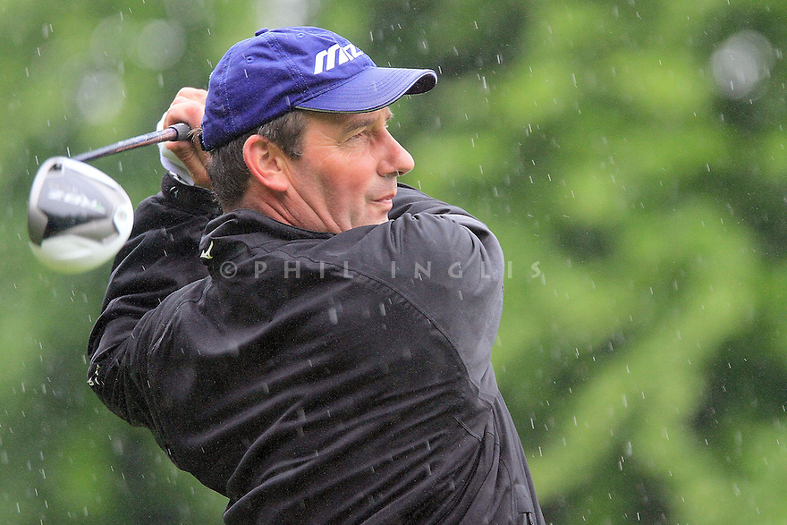 HEXHAM, ENGLAND - JUNE 08:  Paul Wesselingh of England watches his tee shot on the 3rd hole during the second round of the ISPS Handa PGA Seniors Championship played at De Vere Slaley Hall on June 8, 2012 in Hexham, England.  (Photo by Phil Inglis/Getty Images) *** Local Caption *** Paul Wesselingh