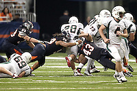 SAN ANTONIO, TX - NOVEMBER 19, 2011: The Minot State University Beavers vs. The University of Texas at San Antonio Roadrunners Football at the Alamodome. (Photo by Jeff Huehn)