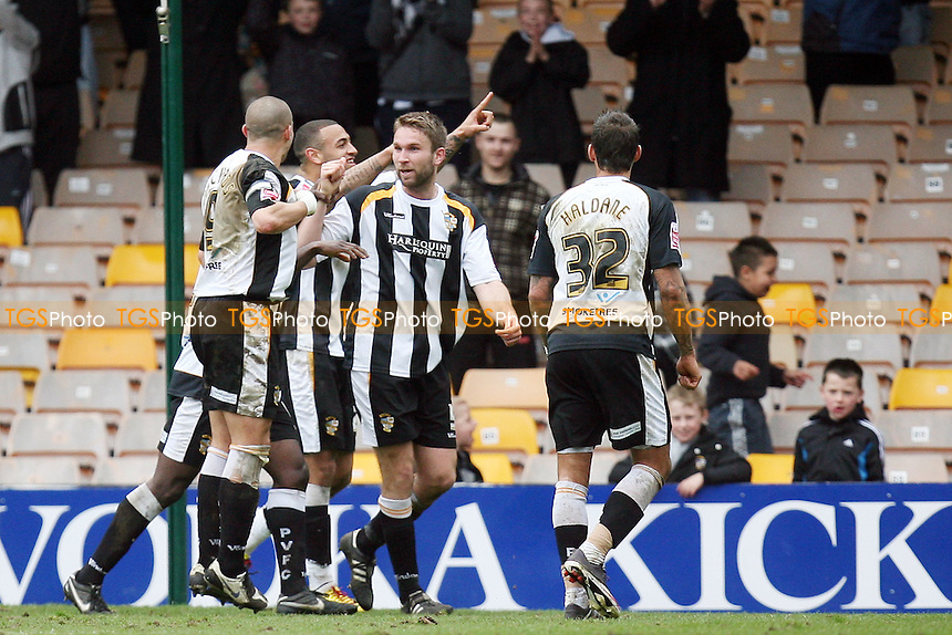 John McCombe of Port Vale celebrates scoring the third goal - Port Vale vs Dagenham & Redbridge 05/04/10 - MANDATORY CREDIT: Dave Simpson/TGSPHOTO - Self billing applies where appropriate - 0845 094 6026 - contact@tgsphoto.co.uk -NO UNPAID USE