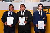 Boys Weightlifting finalists Marcus Taserenavanua, Capper Alefaio & Jeremy Green. ASB College Sport Auckland Secondary School Young Sports Person of the Year Awards held at Eden Park on Thursday 12th of September 2009.