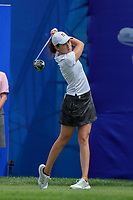 Albane Valenzuela hits her drive off of the 1st tee during Round 3 at the ANA Inspiration, Mission Hills Country Club, Rancho Mirage, Calafornia, USA. {03/31/2018}.<br />