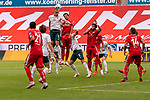 Ludwig Augustinsson (Werder Bremen #05), Danny Latza (FSV Mainz 05 #06), Yuya Osako (Werder Bremen #08), Kunde Malong (FSV Mainz 05 #14)<br /> <br /> <br /> Sport: nphgm001: Fussball: 1. Bundesliga: Saison 19/20: 33. Spieltag: 1. FSV Mainz 05 vs SV Werder Bremen 20.06.2020<br /> <br /> Foto: gumzmedia/nordphoto/POOL <br /> <br /> DFL regulations prohibit any use of photographs as image sequences and/or quasi-video.<br /> EDITORIAL USE ONLY<br /> National and international News-Agencies OUT.