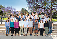 Group photo of the Occidental College students participating in InternLA, June 1, 2018.<br /> Career Services' InternLA program is a paid summer internship program which helps Oxy students gain real-world work experience from actual businesses in Los Angeles.<br /> (Photo by Marc Campos, Occidental College Photographer)