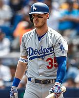 Cody Bellinger.<br /> <br /> Acciones del partido de beisbol, Dodgers de Los Angeles contra Padres de San Diego, tercer juego de la Serie en Mexico de las Ligas Mayores del Beisbol, realizado en el estadio de los Sultanes de Monterrey, Mexico el domingo 6 de Mayo 2018.<br /> (Photo: Luis Gutierrez)