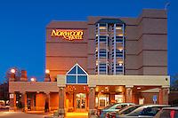 Norwood Hotel at dusk. Saint Boniface<br /> Winnipeg<br /> Manitoba<br /> Canada
