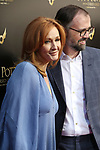 J. K. Rowling and Neil Murray attends the Broadway Opening Day performance of 'Harry Potter and the Cursed Child Parts One and Two' at The Lyric Theatre on April 22, 2018 in New York City.