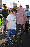 PACOIMA, CA. - October 10: Thomas Calabro and son Luca arrive at The 2009 American Dream Walk To Benefit Habitat For Humanity at Lowe's Home Improvement on October 10, 2009 in Pacoima, California.