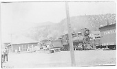 Two RGS C-16 Consolidations on the Placerville house track switching cars.<br /> RGS  Placerville, CO  ca. 1915