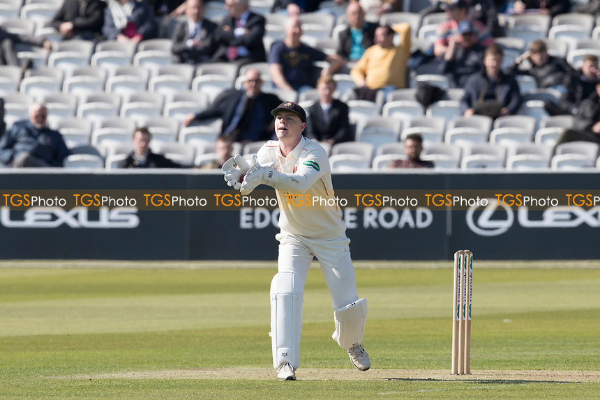 Brooke Guest of Lancashire CCC of Lancashire CCC gathers the ball in during Middlesex CCC vs Lancashire CCC, Specsavers County Championship Division 2 Cricket at Lord's Cricket Ground on 11th April 2019