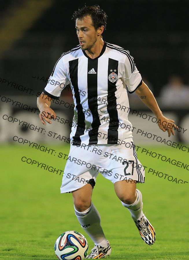 Fudbal Football Soccer<br /> UEFA Champions league-2nd qualifying round<br /> Partizan v HB Torshavn (Faroe Islands)<br /> Danko Lazovic<br /> Beograd, 07.15.2014.<br /> foto: Srdjan Stevanovic/Starsportphoto &copy;