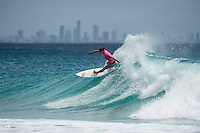 Snapper Rocks, COOLANGATTA, Queensland/AUS (Tuesday, March 15, 2016) Tyler Wright (AUS) - The Quiksilver and Roxy Pro Gold Coast, the opening stop on the 2016  WSL Championship Tour recommenced at 7:35am this morning with men&rsquo;s and women&rsquo;s Round 4 and the women&rsquo;s Quarterfinals called on in clean three-to-five foot (1 - 1.5 metre) waves at Snapper Rocks.<br /> <br /> There was a break during the high tide with only two heats of the men's Round five not completed.<br /> <br />  .Photo: joliphotos.com