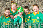 Raheen NS pupils Shannon Lucey, Sinead Warren, Shane Warren, Jonathon Bowler and Katie Faulds who marched at the Killarney St Patricks parade on Thursday