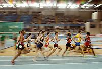 ISTAMBUL, TURQUIA, 09 DE MARCO 2012 - MUNDIAL DE ATLETISMO INDOOR - <br /> Atletas competem durante a corrida 1500 metro para homens no Mundial de Atlestismo Indoor na Arena Atakoy em Istambul na Turquia, nesta sexta-feira, 09 marco. (FOTO: CHRISTIAN CHARISIUS  / BRAZIL PHOTO PRESS).