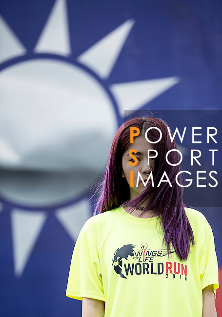 Wings for Life Ambassador DJ RayRay poses for a photograph during the Wings for Life World Run on 08 May, 2016 in Yilan, Taiwan. Photo by Victor Fraile / Power Sport Images