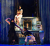 London, UK. 25.03.2016. balletLORENT's Snow White opens at Sadler's Wells Theatre for the Easter family weekend. Photo shows: Natalie Trewinnard, Caroline Reece, John Kendall.  Photo - © Foteini Christofilopoulou.