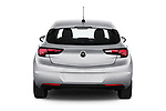 Straight rear view of 2020 Opel Astra Edition 5 Door Hatchback Rear View  stock images