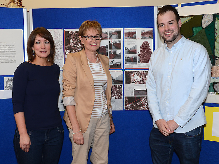 Deirdre Broderick librarian, Mairead McGuinness MEP and Richard Taaffe pictured at the launch of Ardee Heritage Week. Photo:Colin Bell/pressphotos.ie