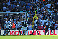 Tottenham Hotspur's Hugo Lloris punches clear <br /> <br /> Photographer Ashley Crowden/CameraSport<br /> <br /> The Premier League - West Bromwich Albion v Tottenham Hotspur - Saturday 5th May 2018 - The Hawthorns - West Bromwich<br /> <br /> World Copyright &copy; 2018 CameraSport. All rights reserved. 43 Linden Ave. Countesthorpe. Leicester. England. LE8 5PG - Tel: +44 (0) 116 277 4147 - admin@camerasport.com - www.camerasport.com