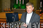 Fr Kieran O'Brien from St Mary's Cathedral Killarney which has started showing Mass on the internet using a webcam
