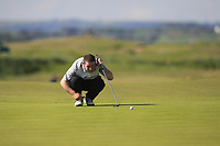 Michael Reid (Galgorm Castle) on the 1st green during Round 2 of the East of Ireland Amateur Open Championship 2018 at Co. Louth Golf Club, Baltray, Co. Louth on Sunday 3rd June 2018.<br /> Picture:  Thos Caffrey / Golffile<br /> <br /> All photo usage must carry mandatory copyright credit (&copy; Golffile | Thos Caffrey)