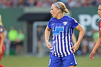 Portland, OR - Saturday May 27, 2017: Natasha Dowie during a regular season National Women's Soccer League (NWSL) match between the Portland Thorns FC and the Boston Breakers at Providence Park.