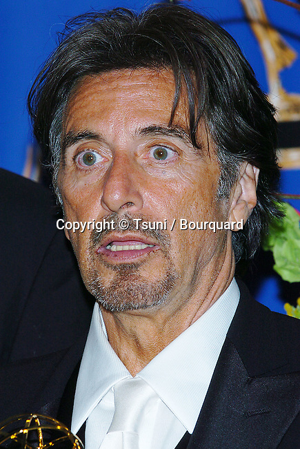 Al Pacino backstage at the 56th Emmy Awards at the Shrine Auditorium in Los Angeles. September 19, 2004.