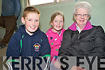 Pictured at the fat stock show and sale held at the Mid Kerry co-op mart, MKilltown on Saturday were Craig, Carla and Pauline Counihan, Castlemaine.....NO FEE...PR SHOT