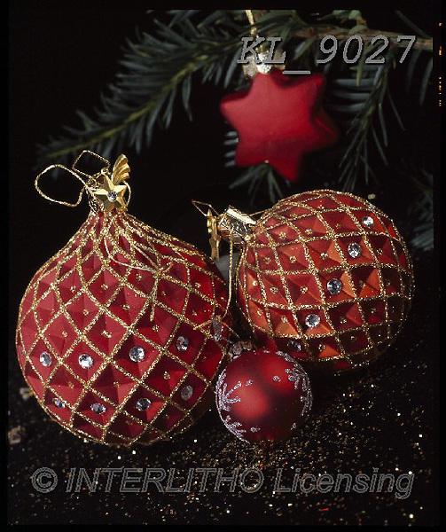 Interlitho-Alberto, CHRISTMAS SYMBOLS, WEIHNACHTEN SYMBOLE, NAVIDAD SÍMBOLOS, photos+++++,red balls,KL9027,#xx# ,balls