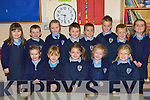 Junior infants in Gneeveguilla NS on Tuesday was front row l-r: Leigh Jones, Roisin Brosnan, Ciara Hickey, Katie Sheilds, Roisin Collins. Back row: Katelyn O'Leary, Ciara Finnegan, Caoimhe Guerin, Cian O'Leary, Ross O'Leary, TJ O'Leary, Dylan O'Riordan and Tara O'Leary