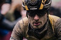 Enrico Battaglin (ITA/LottoNL-Jumbo) rolling in at the finish<br /> <br /> 12th Strade Bianche 2018<br /> Siena &gt; Siena: 184km (ITALY)