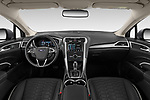 Stock photo of straight dashboard view of 2019 Ford Mondeo Vignale 4 Door Sedan Dashboard