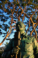 Bob Hope memorial bronze statue, circa 2008 by artists Eugene Daub and Steven Whyte. Located in tranquil waterfront park at the Port Tidelands in  San Diego California.