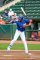 Jordan Paroubeck (22) of the Ogden Raptors at bat against the Idaho Falls Chukars in Pioneer League action at Lindquist Field on August 26, 2015 in Ogden, Utah. Ogden defeated the Chukars 5-1.  (Stephen Smith/Four Seam Images)