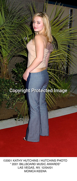 "©2001 KATHY HUTCHINS / HUTCHINS PHOTO."" 2001 BILLBOARD MUSIC AWARDS"".LAS VEGAS, NV. 12/04/01.MONICA KEENA"