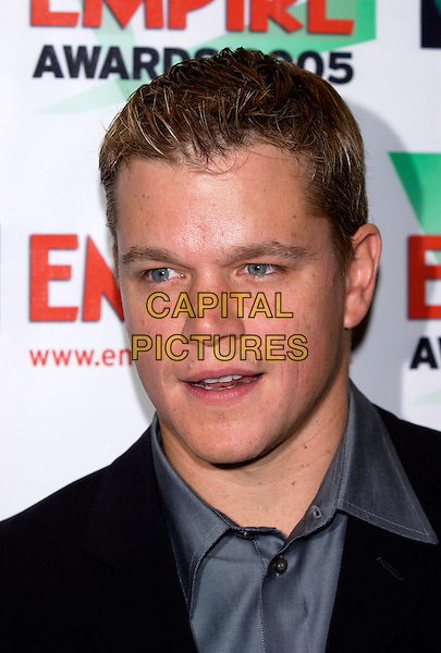 MATT DAMON.Sony Ericsson Empire Film Awards 2005 at The Guildhall, Gresham Street, London EC2.March 13th, 2005.headshot portrait.www.capitalpictures.com.sales@capitalpictures.com.©Capital Pictures