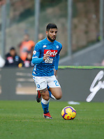Lorenzo Insigne of Napoli  during the  italian serie a soccer match,  SSC Napoli - Frosinone       at  the San  Paolo   stadium in Naples  Italy , December 08, 2018